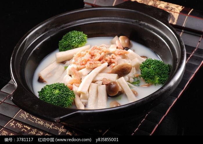 珍菌虾米杂菜煲