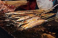 秋刀鱼烧烤