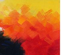 涂鸦抽象油画 色块抽象画