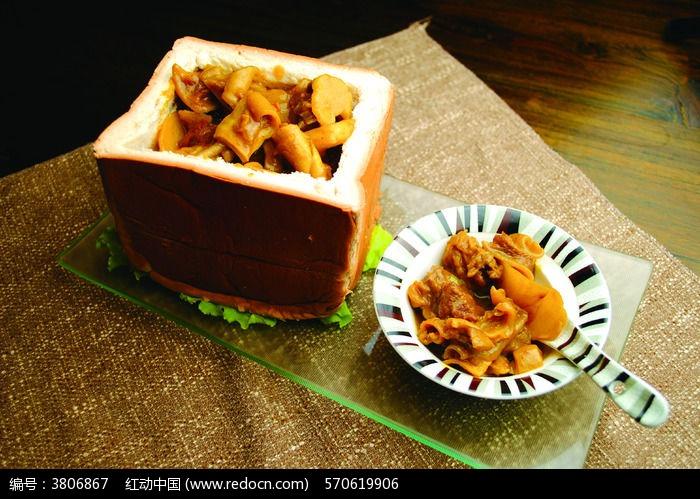 茶树菇面包鱼菜品美食