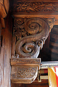 中国传统图案木雕