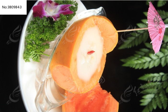 木瓜炖雪蛤图片,高清大图