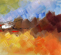 抽象油画 底纹背景