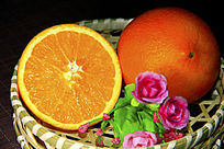篮子里鲜橙