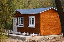 童话实木房子贴片饼干房白色窗户平方