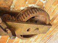 工厂怀旧锈迹齿轮