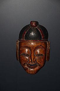 弥勒佛土家族木雕摊戏面具