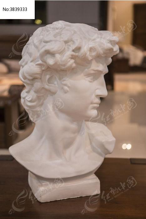 石膏头部雕塑