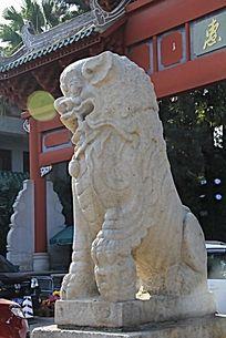 石头狮子雕塑作品