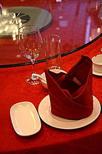 星级酒店餐桌 餐布 餐巾 口布花