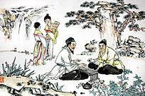 古代人物水墨画