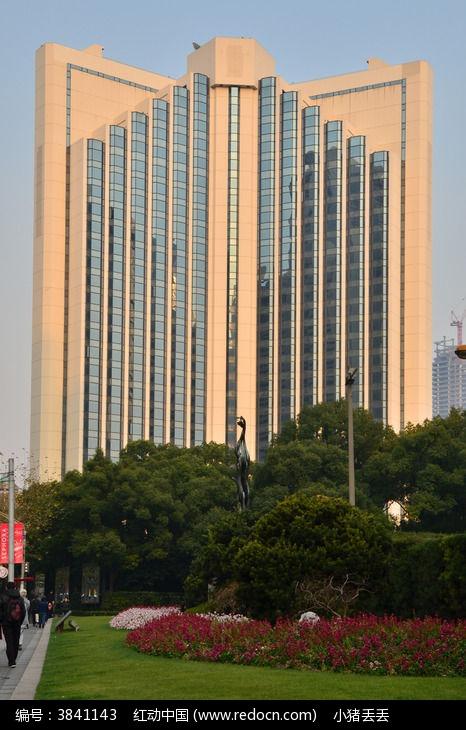上海南京西路中国银行大厦全景