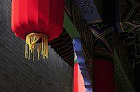 中式古建筑物上的宫灯