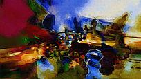 抽象画 无框画 色块抽象 油画抽象