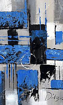 抽象油画 色块抽象画