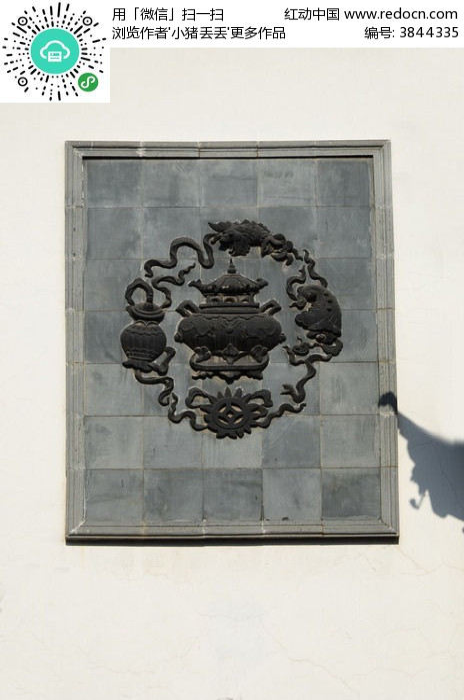 青铜器花纹浮雕画高清图片下载 红动网