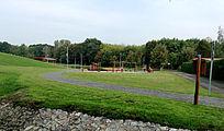 布拉格居民小区里的公园