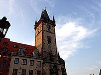 布拉格天文钟塔顶