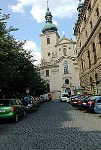 布拉格一区的教堂