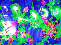 抽象油画 雪纺图案 装饰画