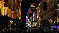 繁嚣的上海与美丽的城市夜色