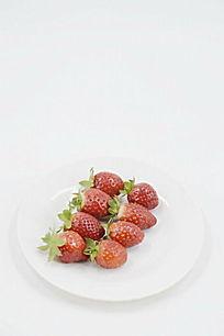 俯拍摆放整齐草莓图片