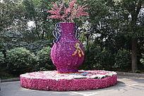 花卉博览展花瓶冬工艺装饰