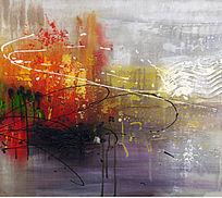 抽象油画 欧美抽象油画