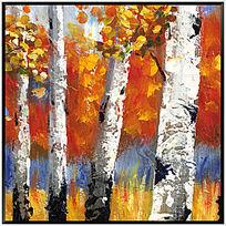 风景油画 抽象画