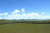 西藏蓝天白云大草原宽广大气山川