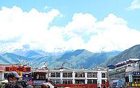 西藏拉萨布达拉宫大气山川