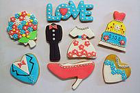 喜庆的婚礼翻糖饼干