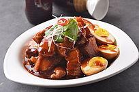 红烧肉焖土鸡蛋