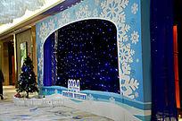 梦幻圣诞宴会装饰背景墙舞台背景