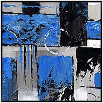 色块抽象画 油画