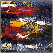 色块抽象画 油画 抽象画