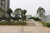 城市小区楼盘公园