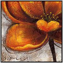 漂亮的花卉油画