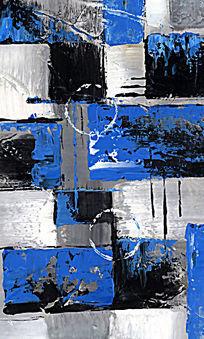 色块抽象画 抽象油画 装饰画