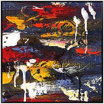 色块抽象画 装饰画