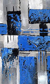 装饰画 抽象油画 色块抽象画
