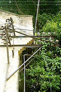 怀旧的老电线杆