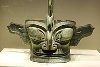 青铜神像面具
