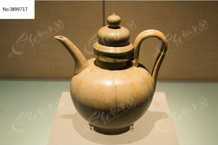 陶制酒壶 图片,高清大图 文物古董素材