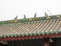 洛阳民俗博物馆琉璃瓦屋顶