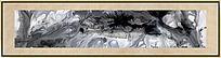中国风抽象画 黑白装饰画