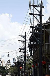 海南观澜湖冯小刚电影公社里的街景图片