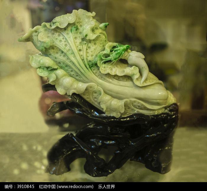 玉石雕刻白菜图片