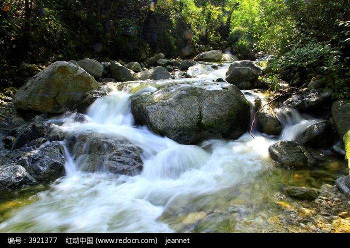 山泉图片,高清大图_峡谷瀑布素材