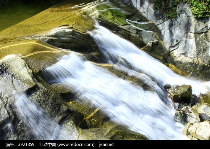 小溪流图片,高清大图_峡谷瀑布素材